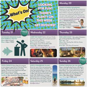 SRI Events Weekly Calendar