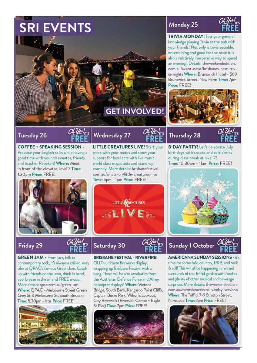 September Events Calendar - SRI English