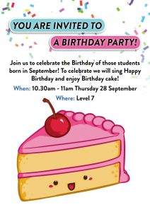 Monthly birthday party