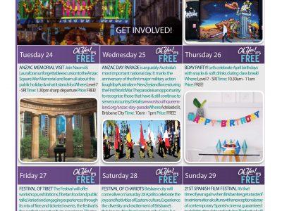 April Events Calendar
