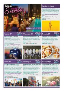 March Events Calendar