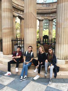 Students at ANZAC Square, Brisbane