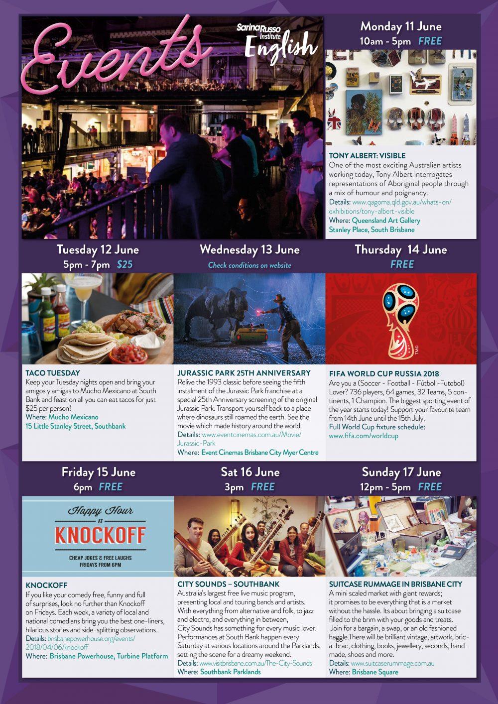 June Events Calendar Sri English